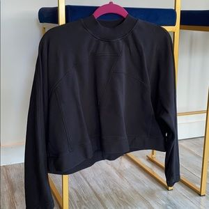 Black cropped lulu sweatshirt